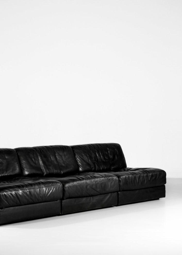 canape de sede DS76 noir sofa design années 70