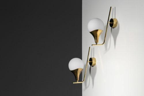 paire d'applique style gino sarfatti stilnovo design italien4