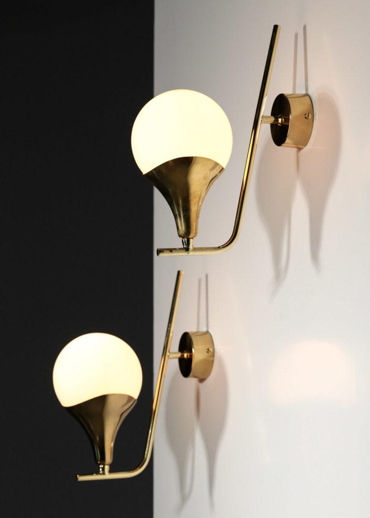 paire d'applique style gino sarfatti stilnovo design italien