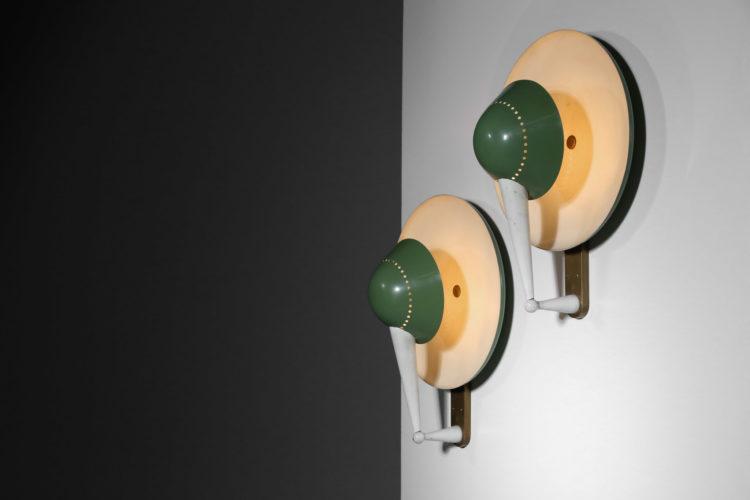 paire d'appliques stilnovo model B4917 années 60 italien design12