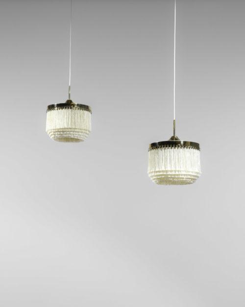 paire de suspension Suedoise Hans Agne Jakobsson frange vintage design17