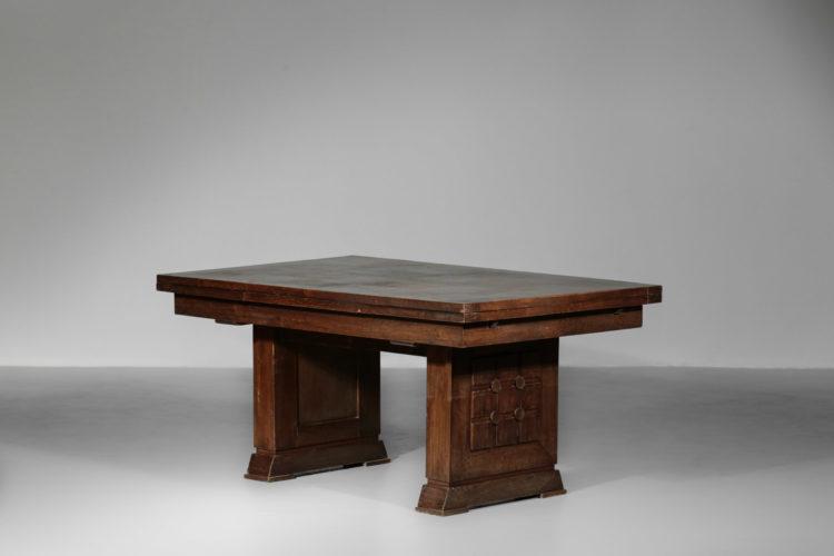 table à manger en chene massif francaise reconstruction charles dudouyt