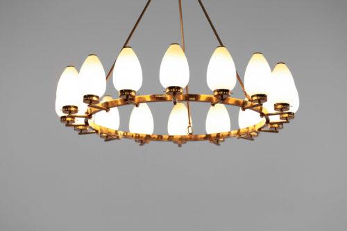 Grand lustre italien corona arredoluce arteluce angelo lelli