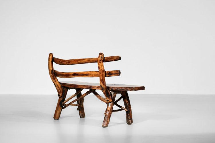 banc rustique brutaliste bois massif design16