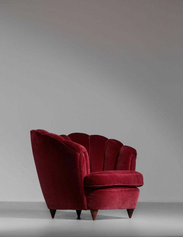 paire de fauteuils italien gio ponti bordeau design vintage 15
