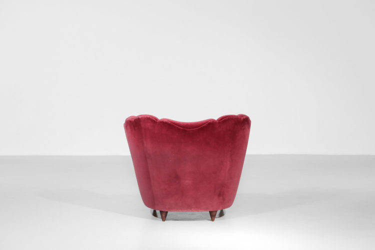 paire de fauteuils italien gio ponti bordeau design vintage 2