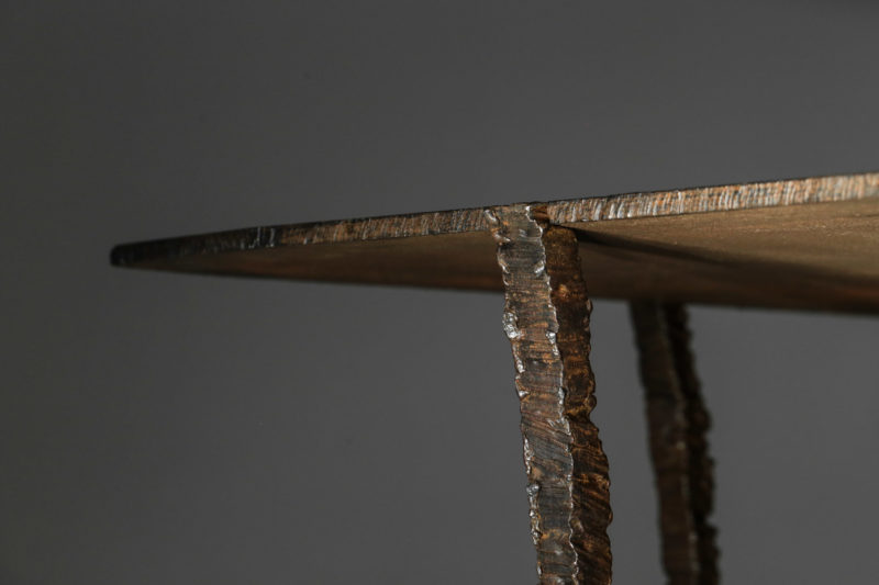 Studio Danke Galerie table basse creation Bryan parlati fer forgé bronze44