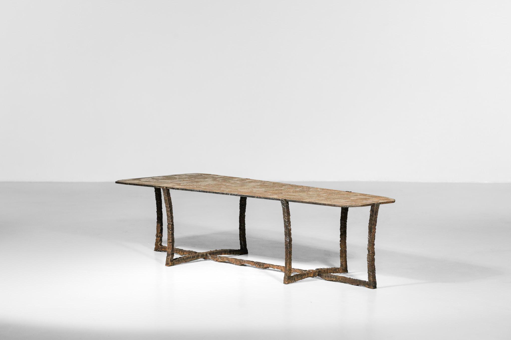 Studio Danke Galerie table basse creation Bryan parlletti fer forgé bronze19