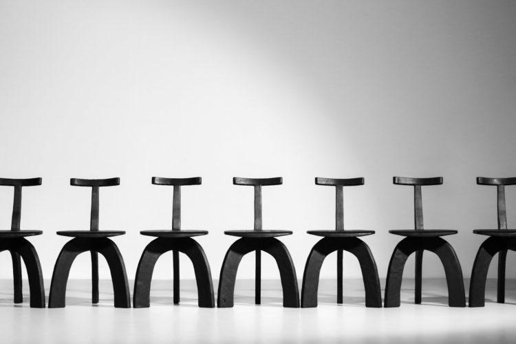 Chaise vincent vincent danke galerie chaise ebeniste bois brulé44