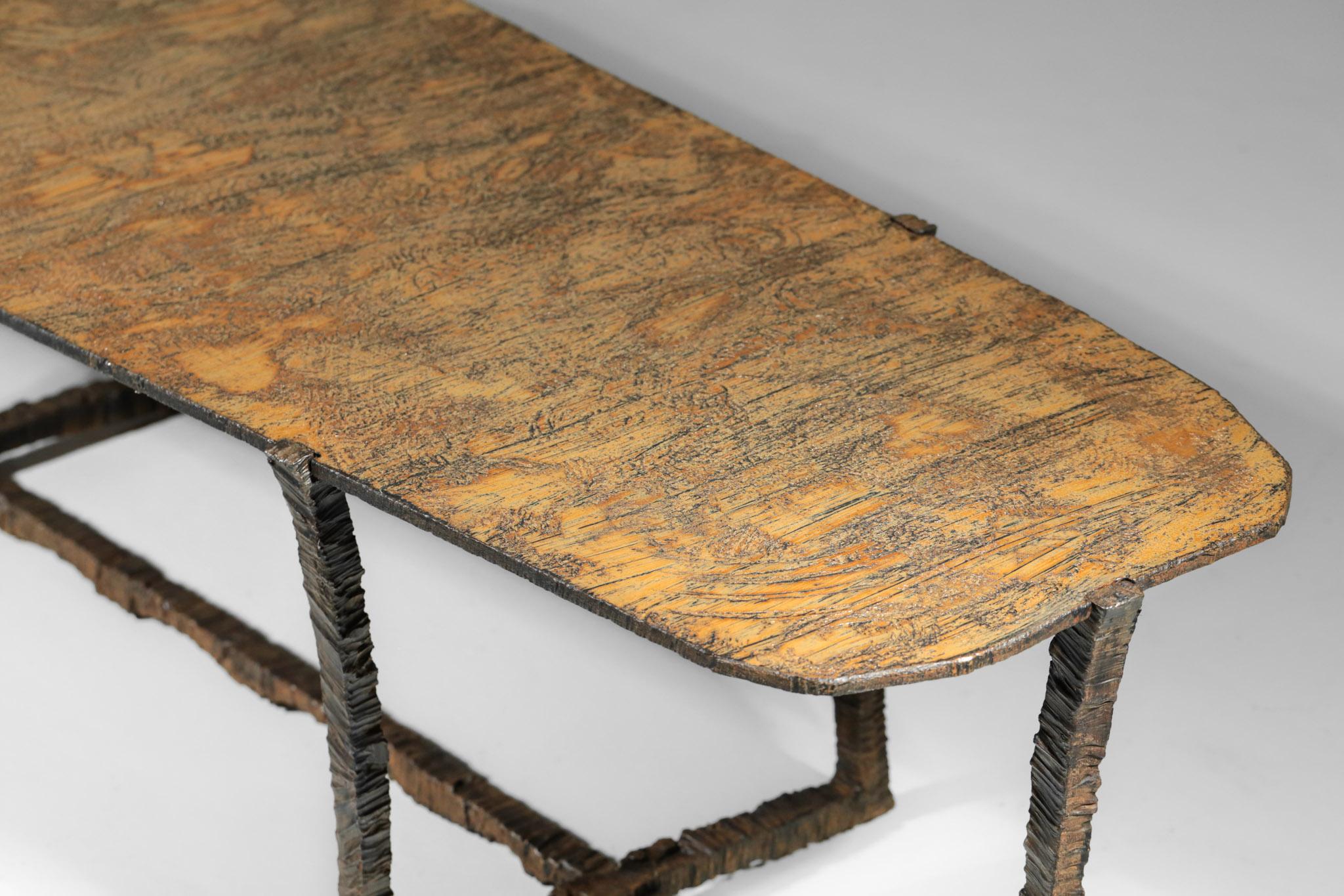 Studio Danke Galerie table basse creation Bryan parlati fer forgé bronze64