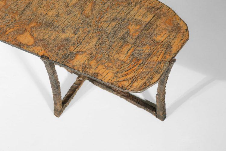 Studio Danke Galerie table basse creation Bryan parlati fer forgé bronze2