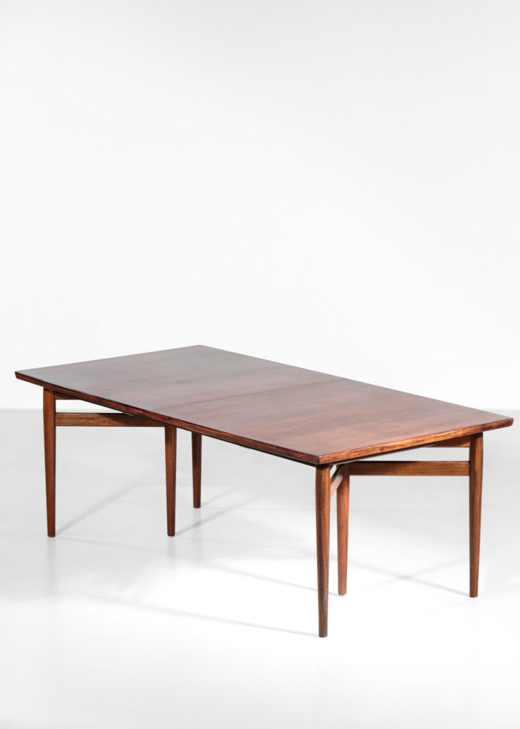 Grande table à manger danoise arne vodder en palissandre de rio scandinave sibast 212 3