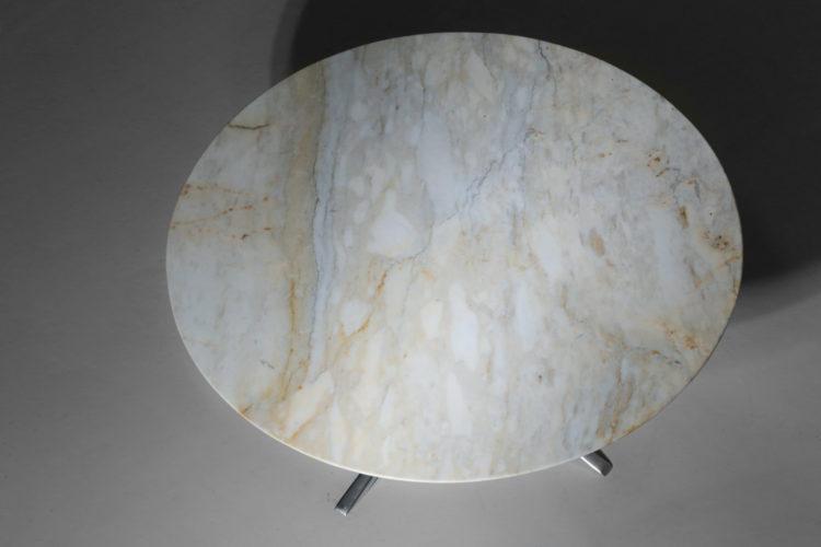 table basse ronde en marbre années 60 vintage 9