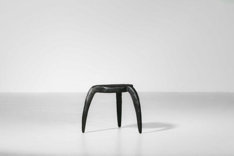 danke galerie vincent vincent tabouret minimalist bois brulé 15