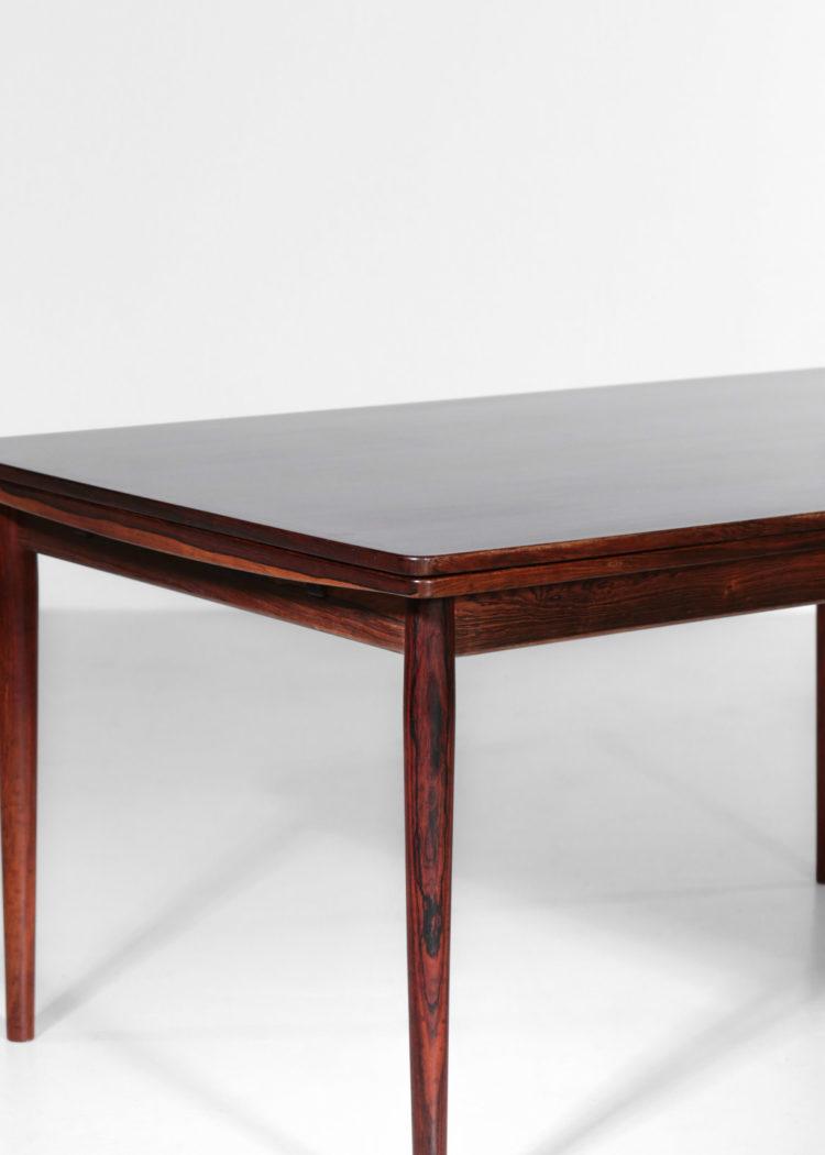grande table a manger arne vodder danoise scandinave en palissandre de rio années 60