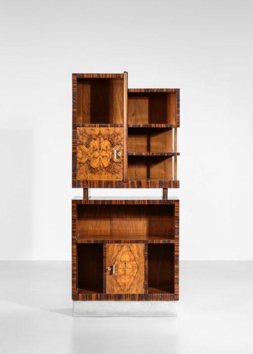 meuble moderniste italien des années 50 en bois de loupe style Gio Ponti 14