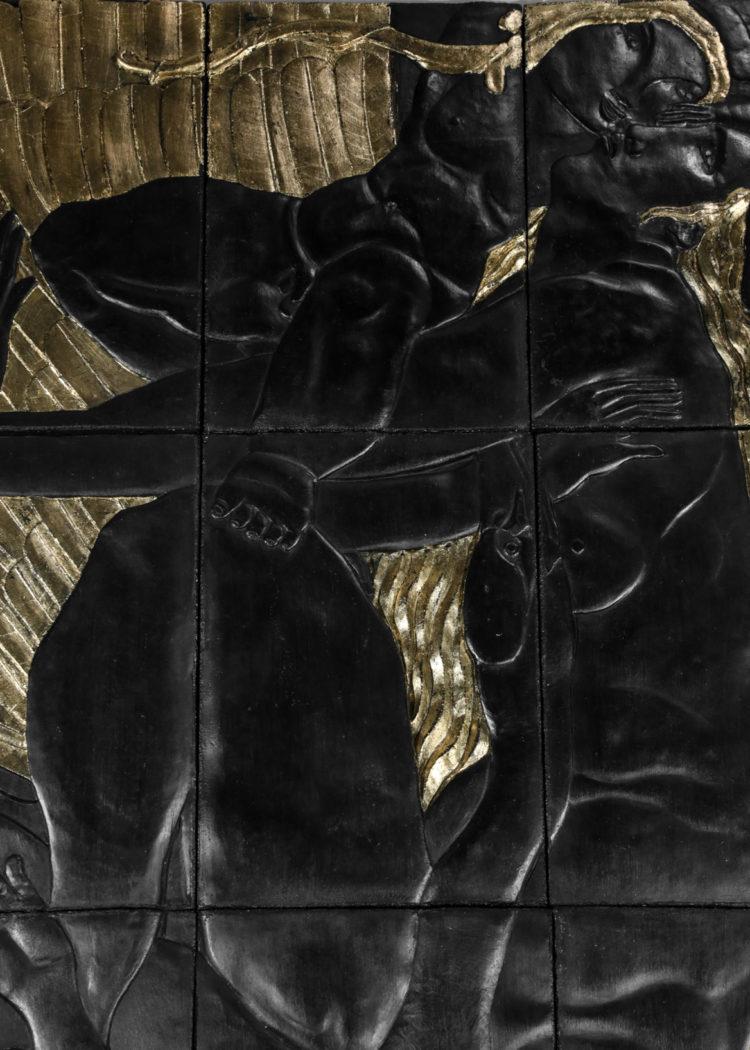 Bas relief Spéranza Calo-Séailles Alfred Auguste JANNIOT Léda art deco24