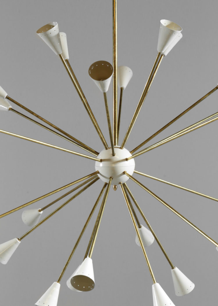 grand lustre spoutnik italien moderne beige 1