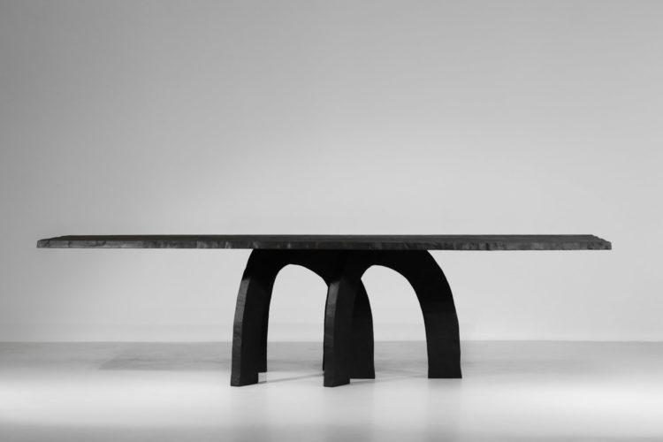 grande table à manger vincent vincent bois brulé design 61