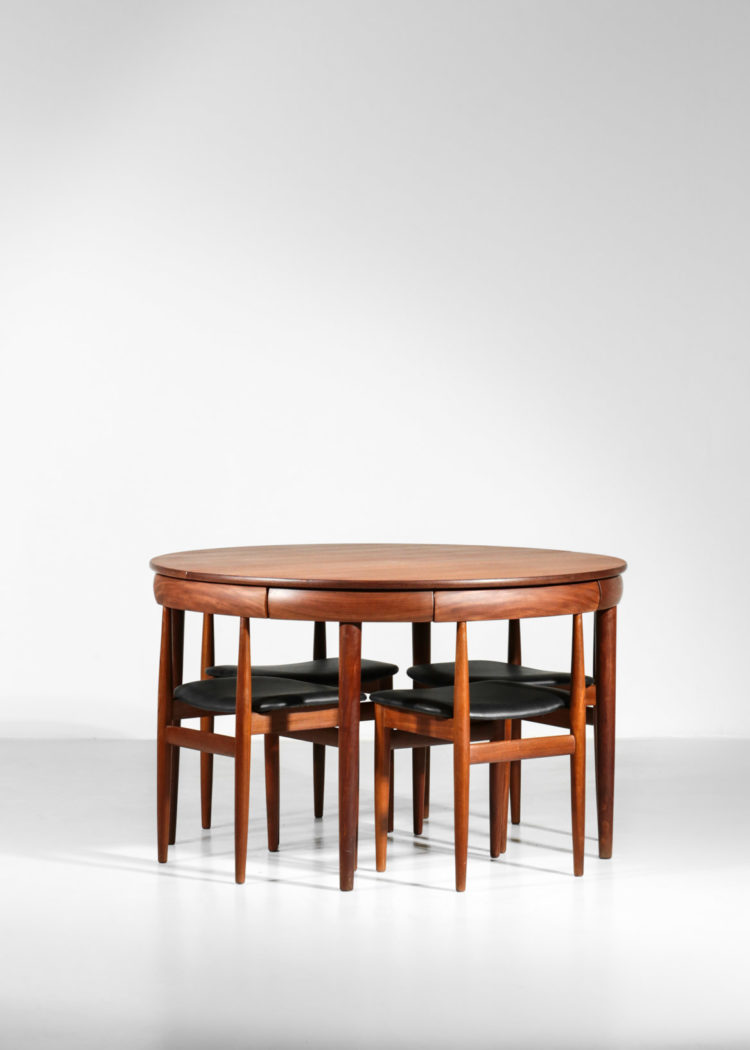 hans olsen set de table danois chaise et table teck scandinave1