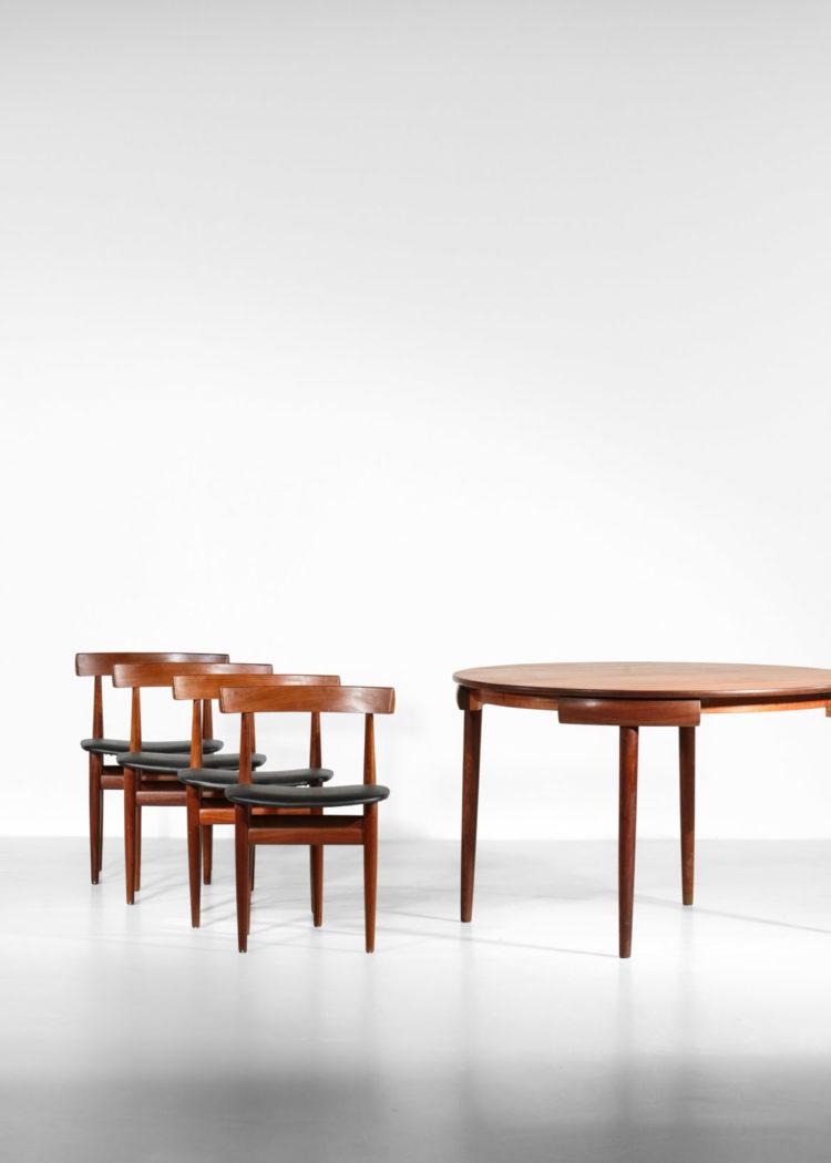 hans olsen set de table danois chaise et table teck scandinave
