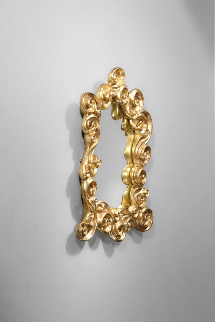 miroir francais Jean Boggio les heritiers platre doré les vagues