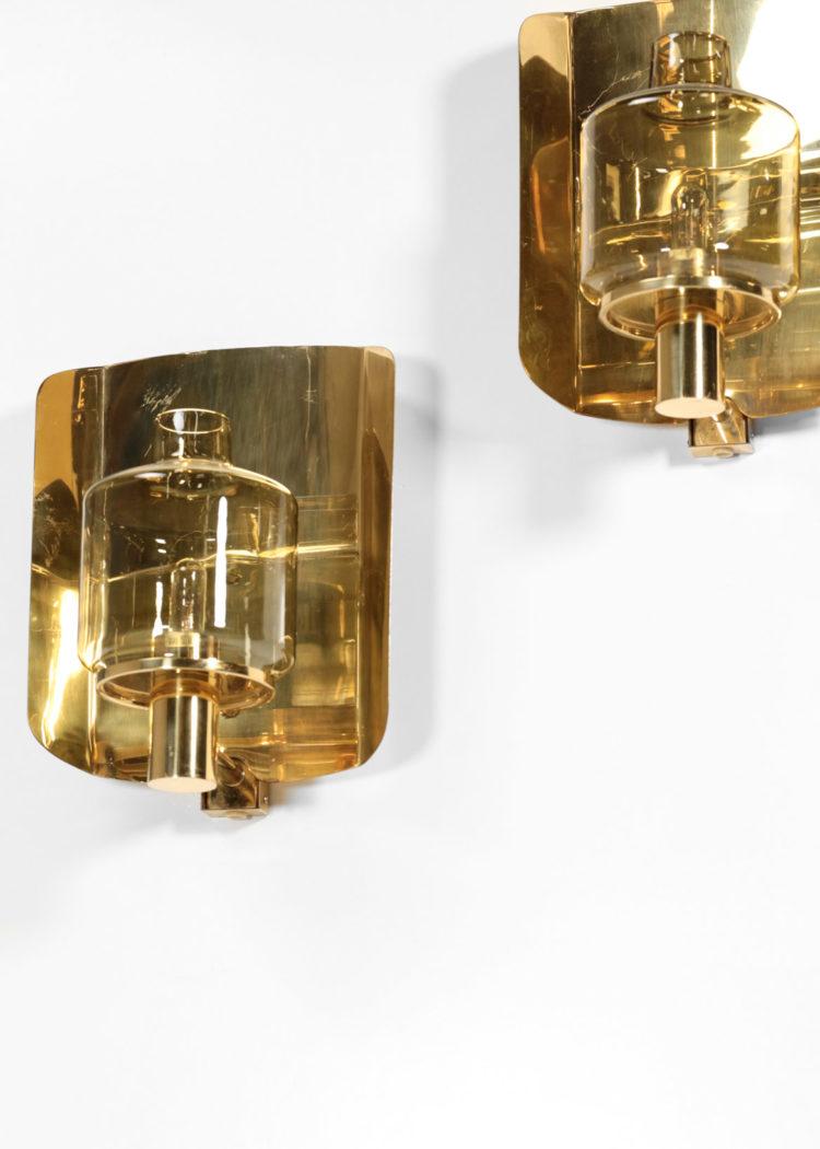 paire d'appliques hans agne Jakobsson V222 suedoise scandinave années 60