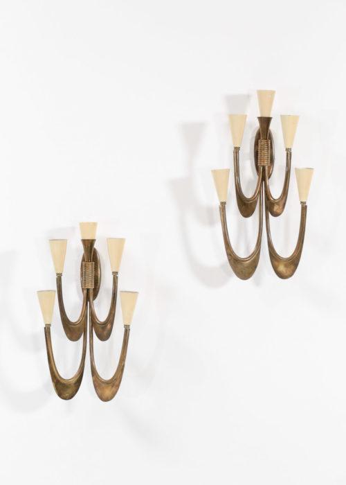 paire d'applique italienne gio ponti style vintage design années 60