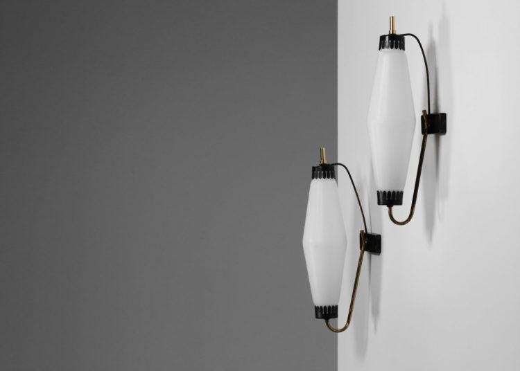 paire d'appliques italienne vintage design stilnovo arredoluce