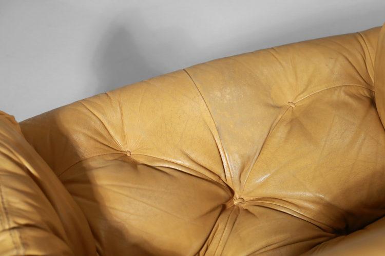 fauteuil percival lafer design bresilien en cuir jaune jacaranda4
