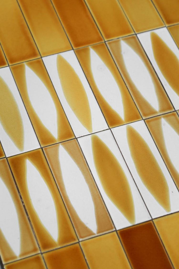 table basse navette roger capron jaune 3