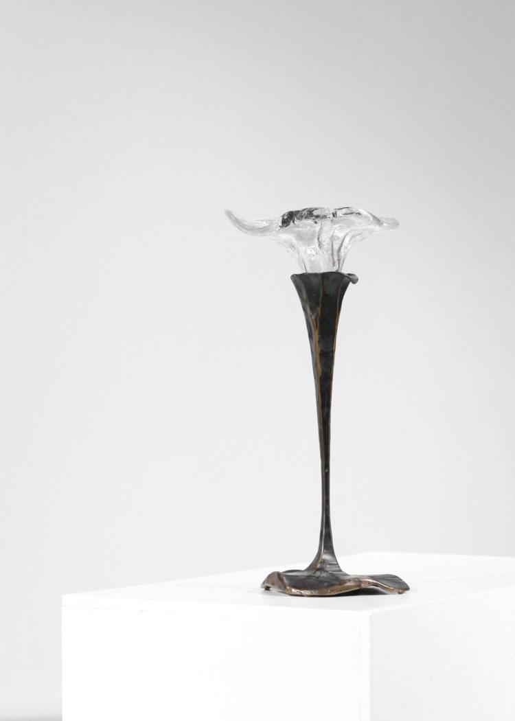bougeoire par Lothar Klute design allemand en bronze 1