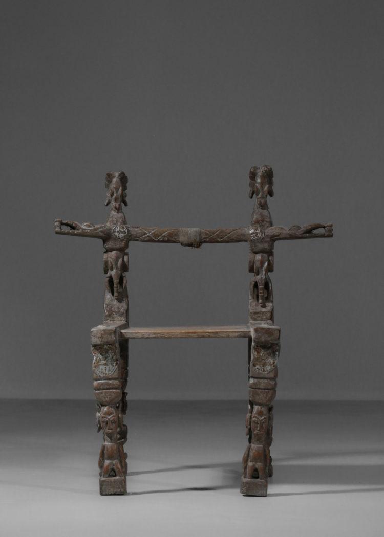 chaise senoufo ancienne années 60 vintage ethnic9