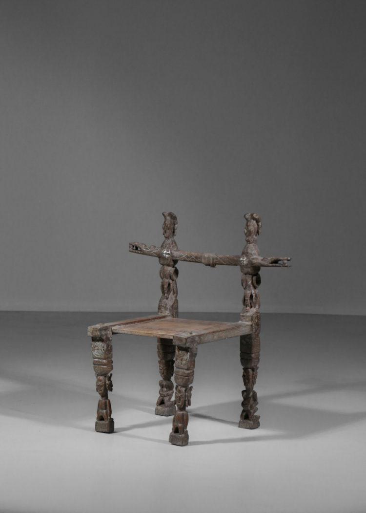 chaise senoufo ancienne années 60 vintage ethnic