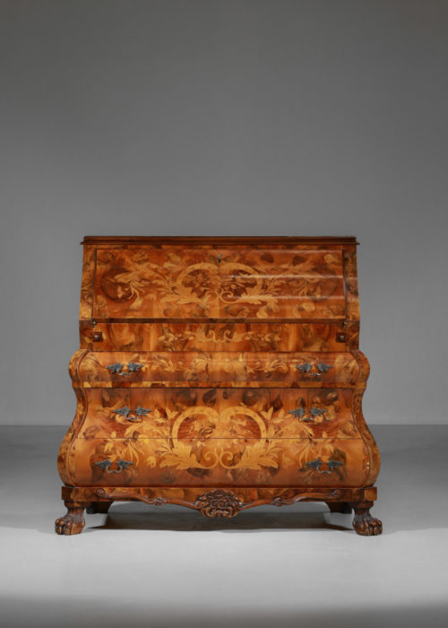 commode secretaire de style hollandais en marqueterie11