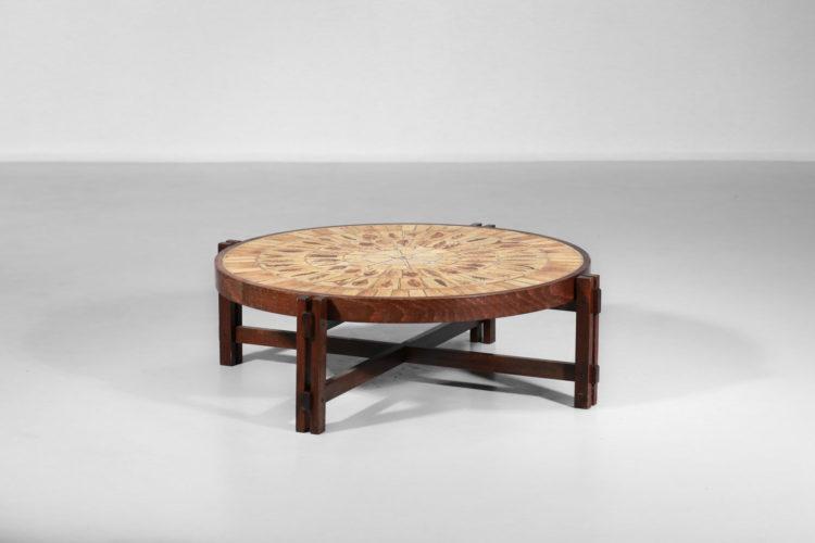 table basse ceramique roger capron modele herbier3