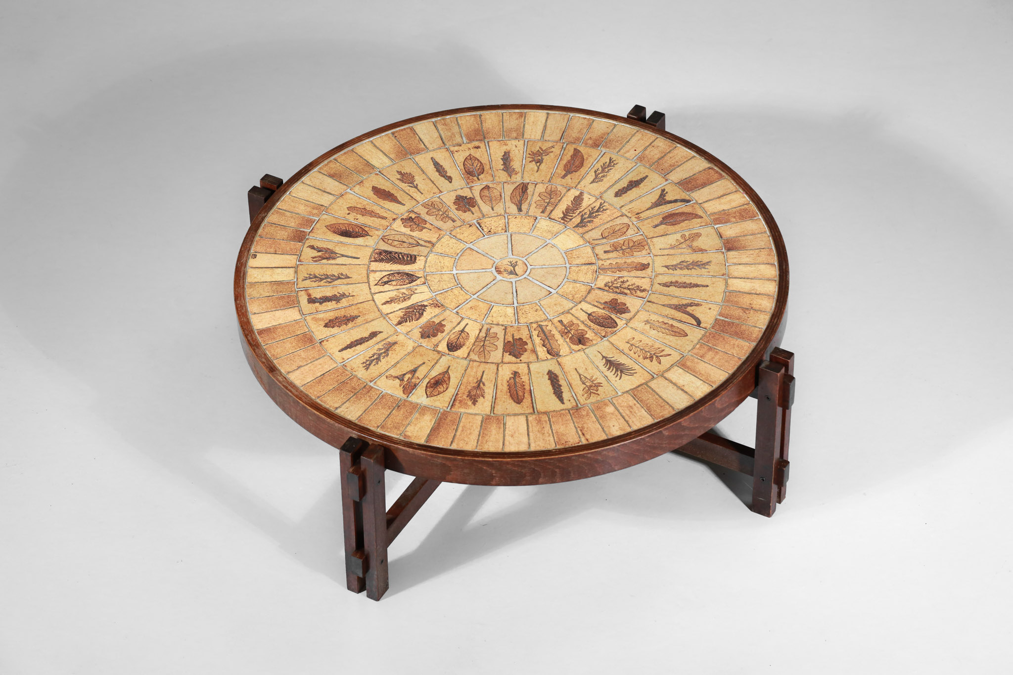 table basse ceramique roger capron modele herbier français - Danke Galerie