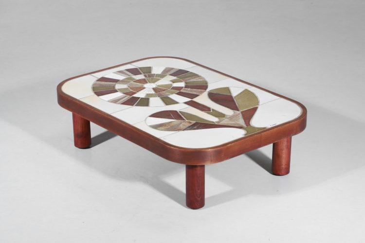 table basse roger capron ceramique francaise fleur 6