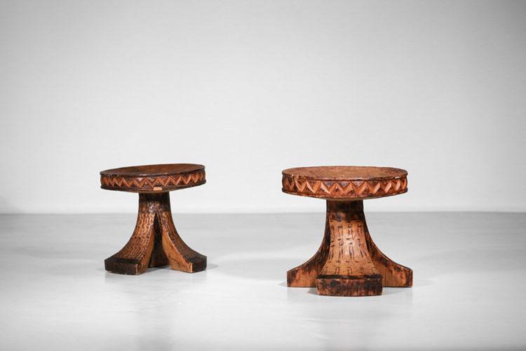 tabouret africain en bois massif années 60 vintage 13.jpg2
