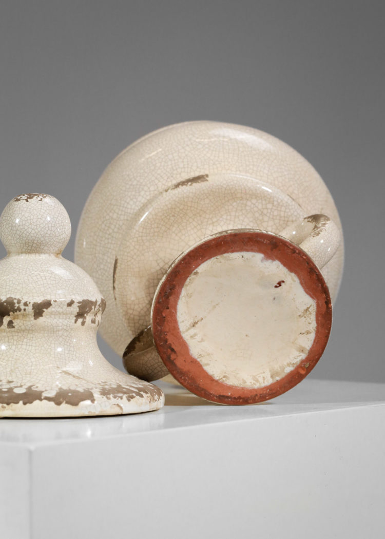 vase pot en ceramique craquelé dans le gout de jean michel frank