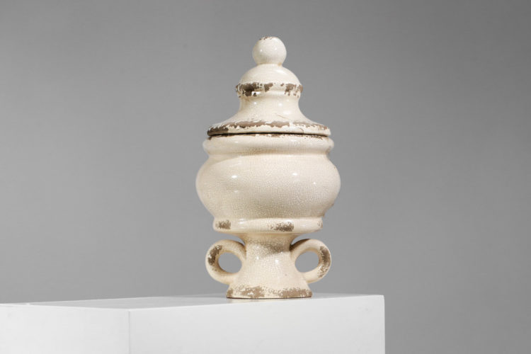 vase pot en ceramique craquelé dans le gout de jean michel frank 2