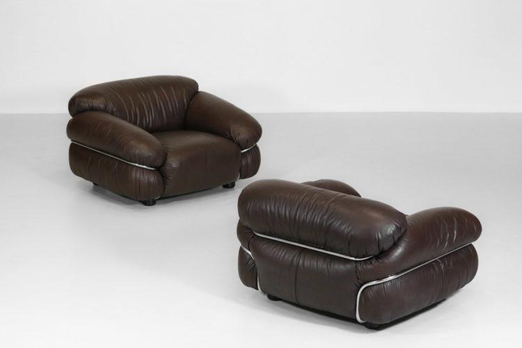 fauteuil Gianfranco Frattini sesann cassina cuir vintage 7