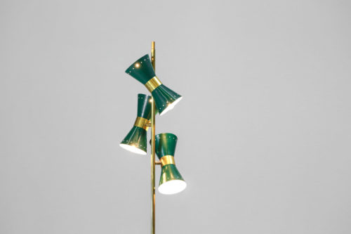 lampadaire italienne moderne 3 diabolo style vintage vert 2