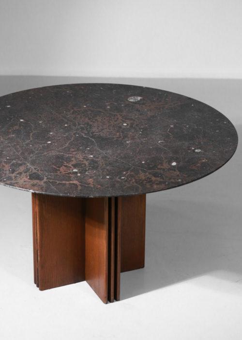 table à manger fossile par Heinz Lilienthal diesign années 704