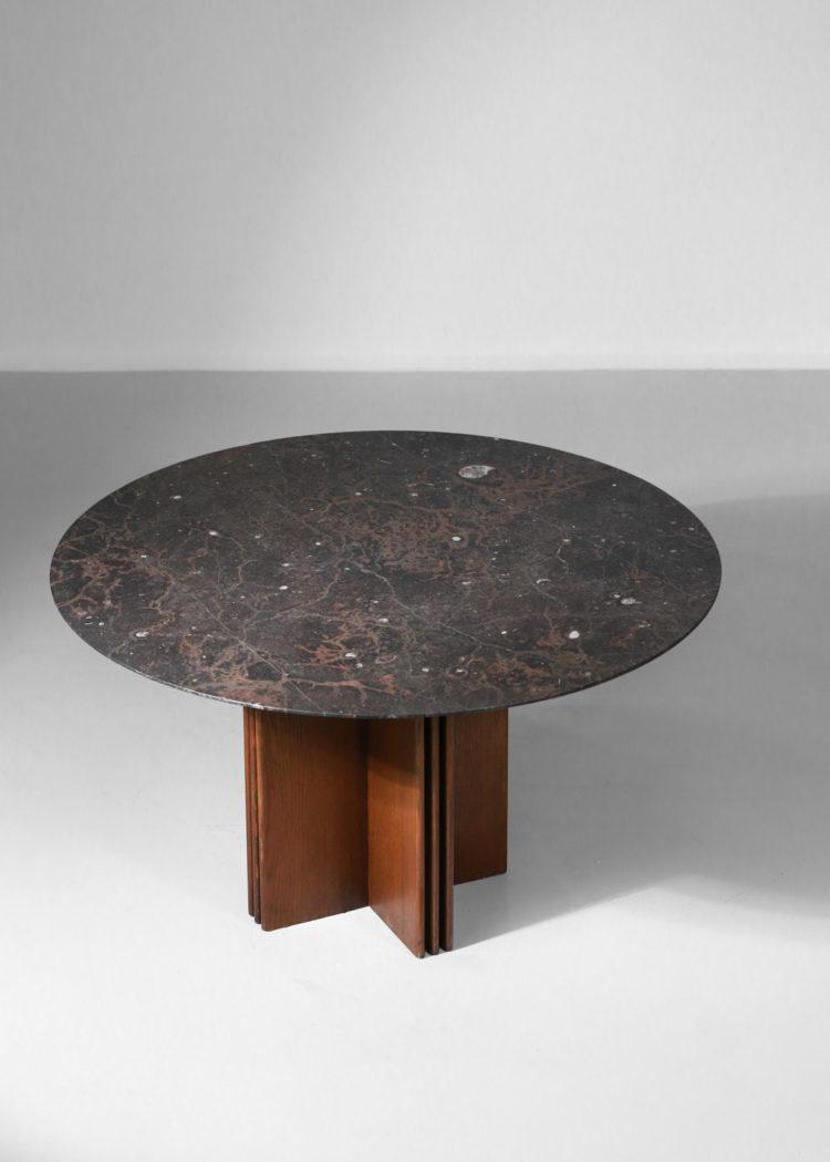 table à manger fossile par Heinz Lilienthal diesign années 70