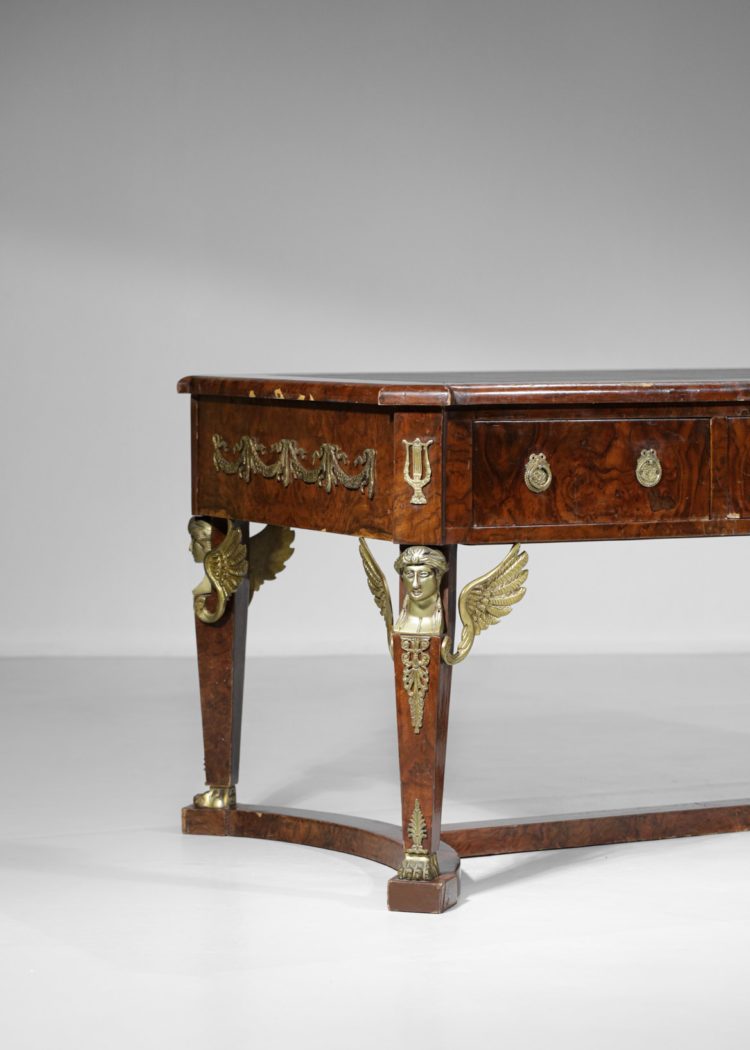 bureau francais style empire colonial bronze et acajou E404