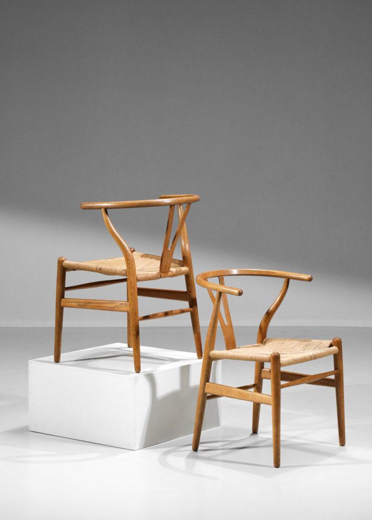 chaises y hans wegner danoise scandinave chene massif original E561