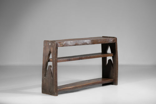 console brutaliste en bois massif vintage rustique 5