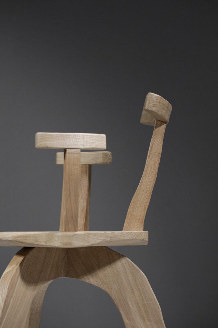 fauteuil chaise vincent vincent en chene massif VV103