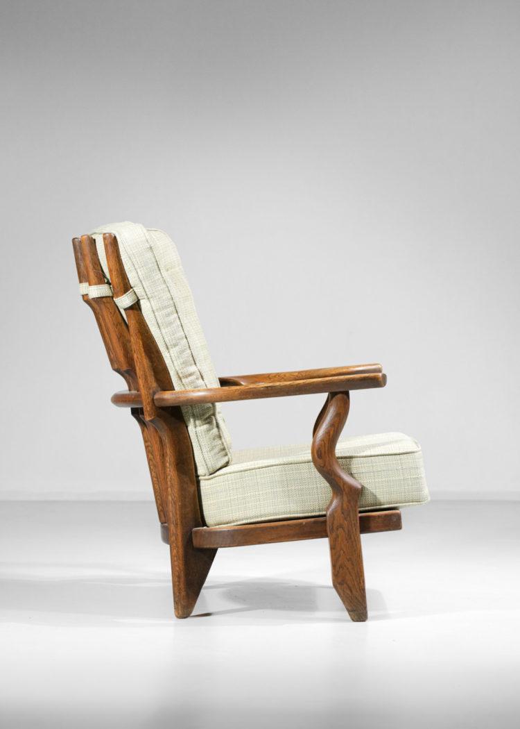 fauteuil grand repos madame par guillerme et chambron vintage francais E534